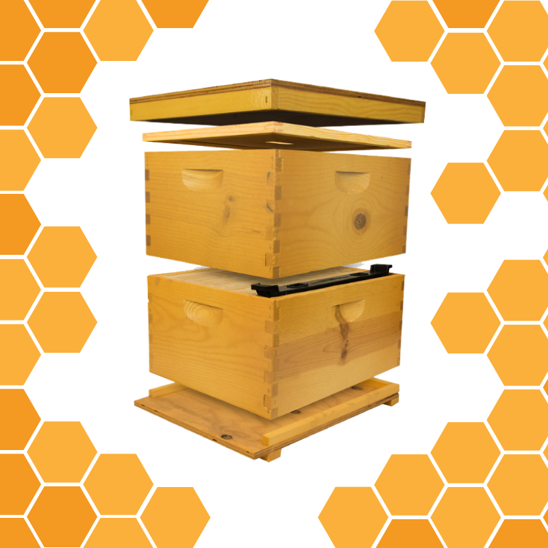 Mellivo Strong Box Two Deep Hive Kit